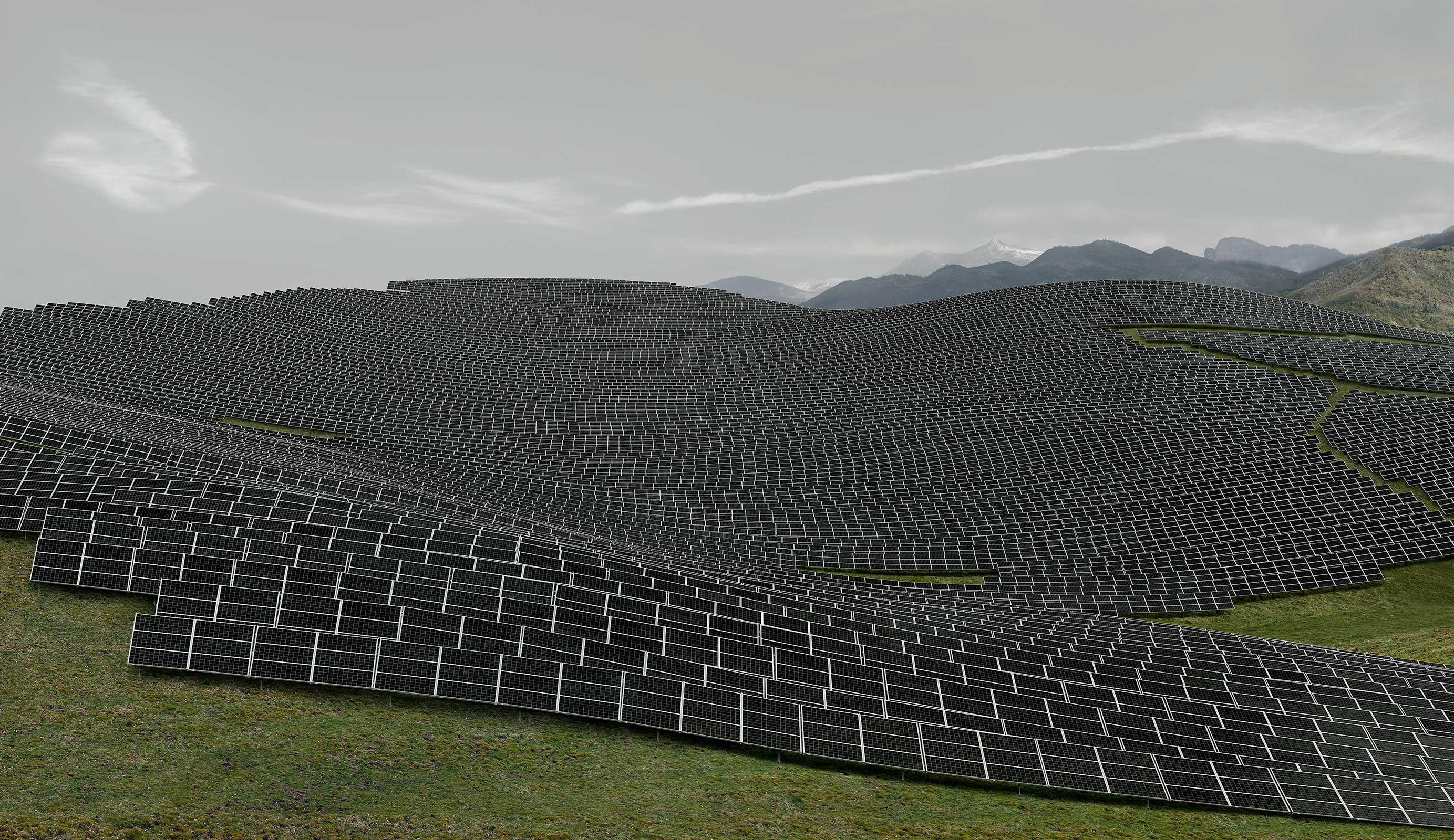 Andreas Gursky, 'Les Mées'