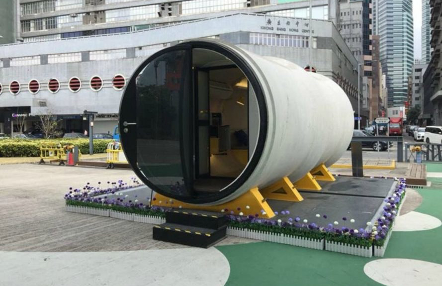 Concrete tube micro-homes by James Law Cybertecture