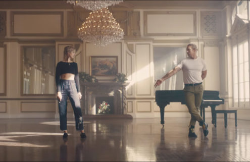 Mø and Diplo practice their dancing skills in LA's Alexandria ballroom