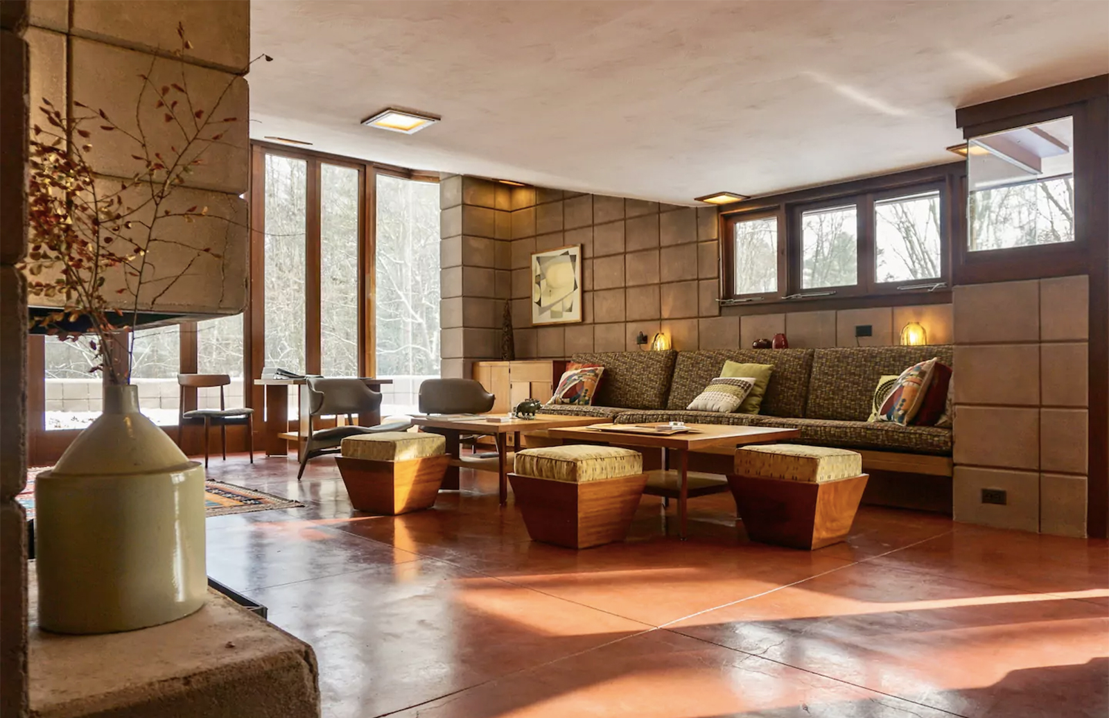 Frank Lloyd Wright's Eppstein house is now for rent in Michigan