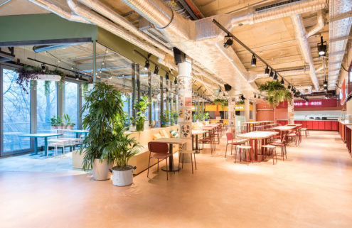 Berlin's Kantini food court is a kitsch culinary playground