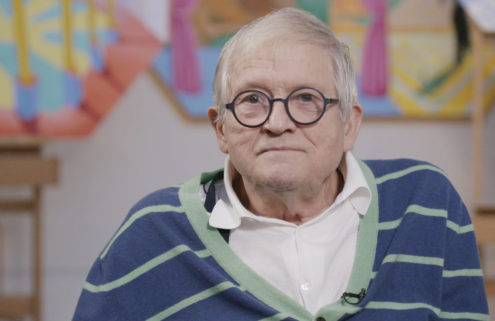 Go inside David Hockney's studio in a new film