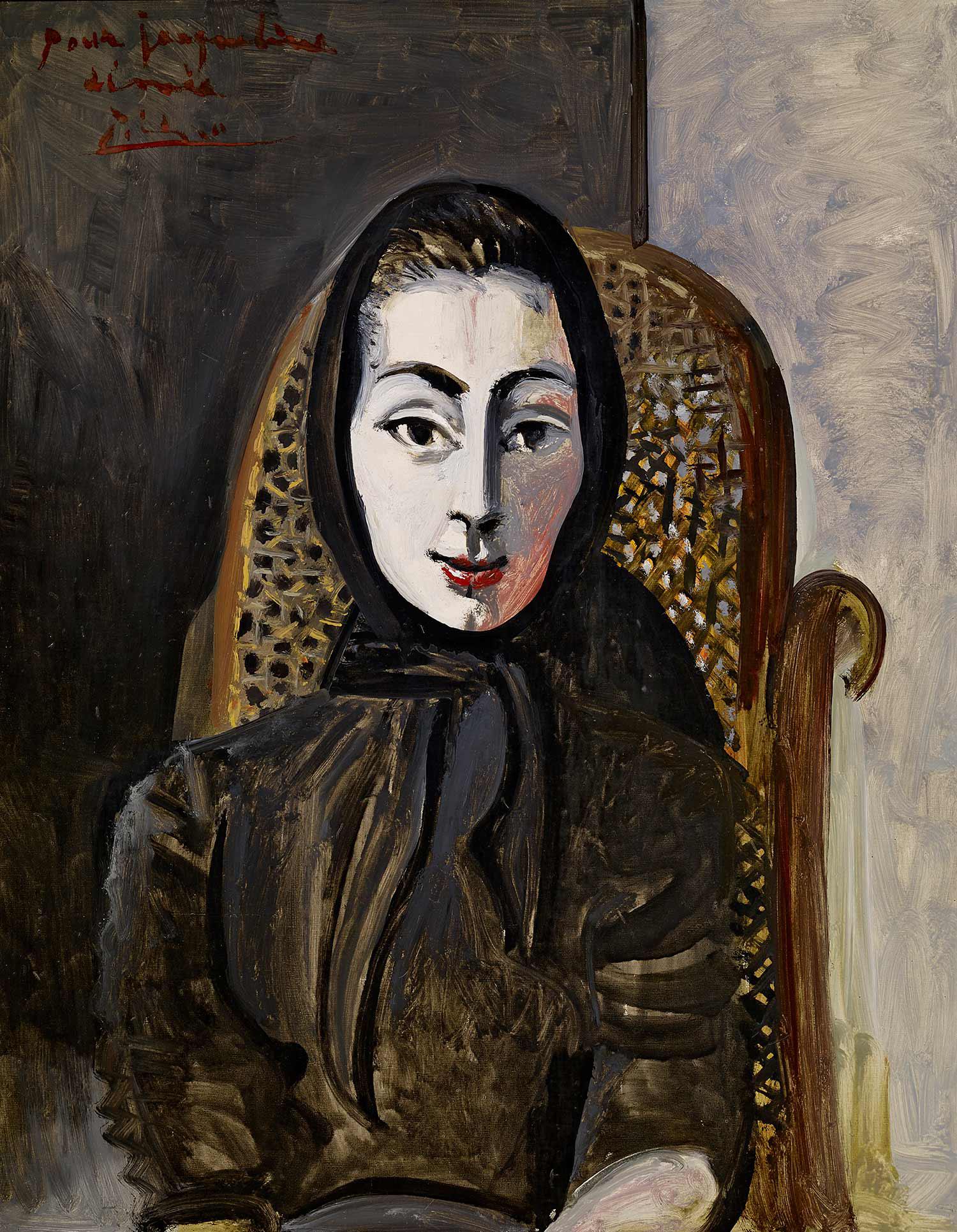 Pablo Picasso, 'Portrait of Jacqueline in a Black Scarf',