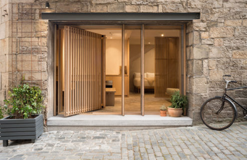 Holiday home of the week: a minimalist studio beneath Edinburgh Castle