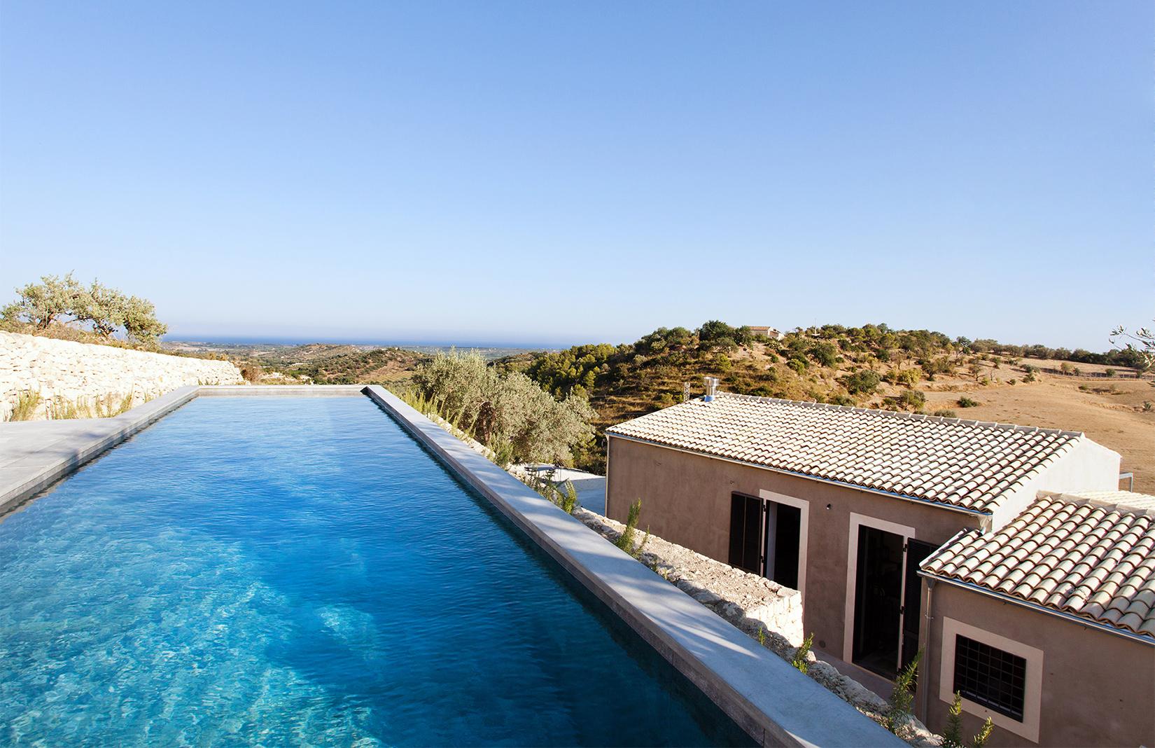 Villa Mura Mura, a hillside retreat in noto with a spectacular swimming pool