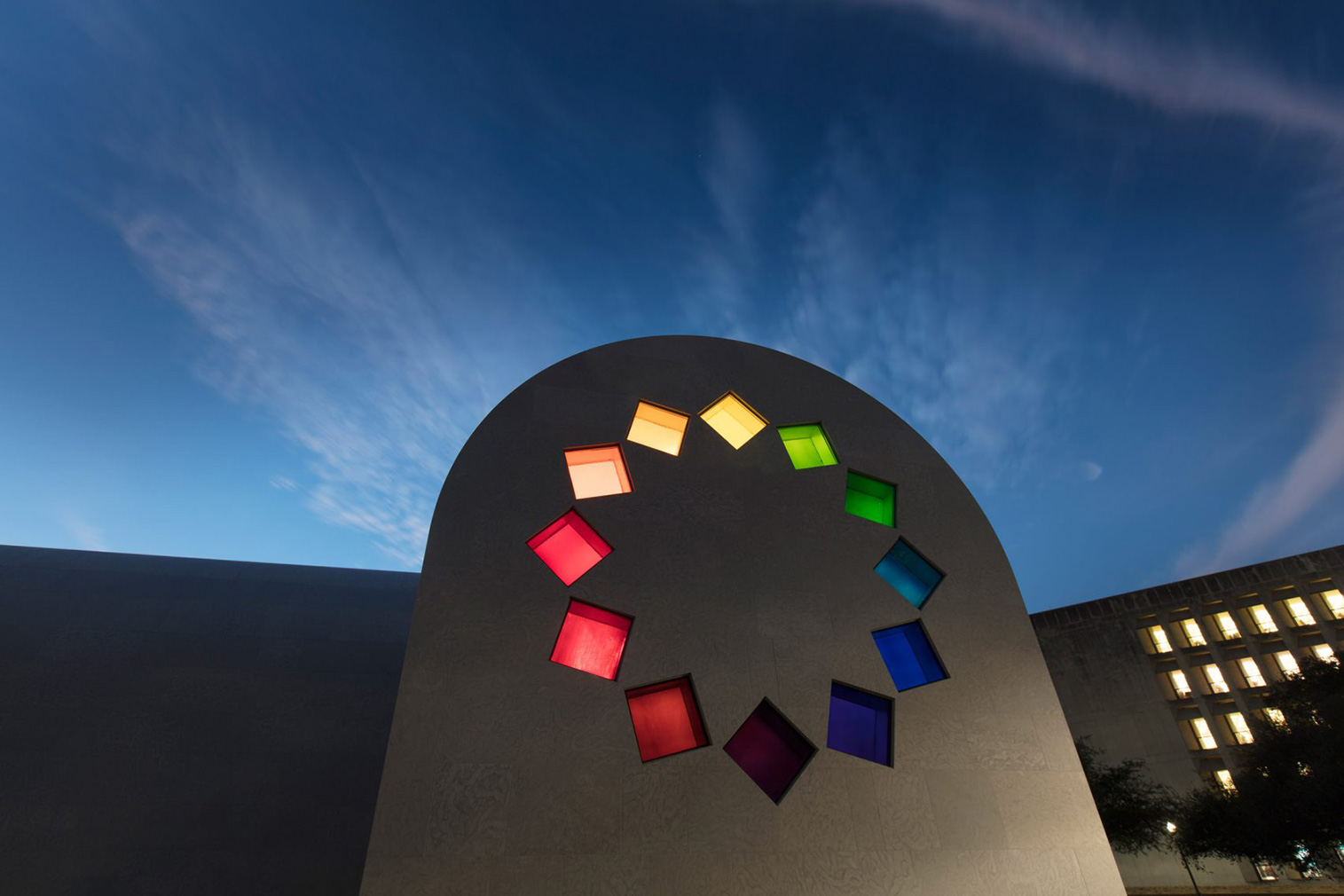 Austin pavilion by Ellsworth Kelly at the University of Texas