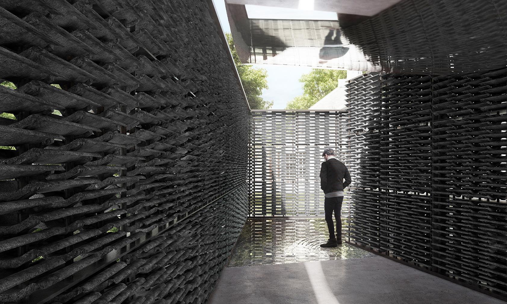 Serpentine Pavilion 2018 designed by Frida Escobedo, Taller de Arquitectura, © Frida Escobedo, Taller de Arquitectura. Renderings by Atmósfera