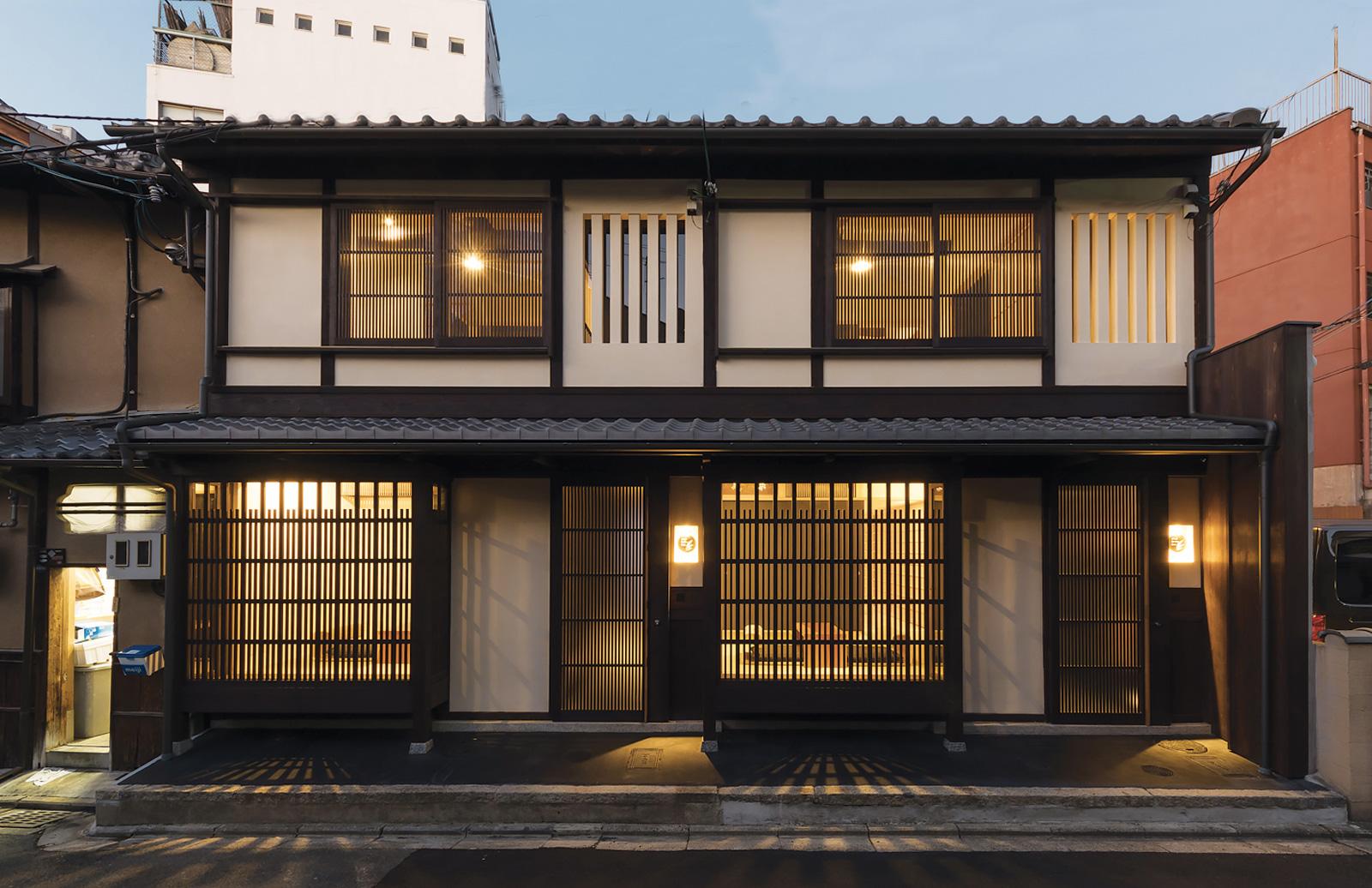 BenTen exterior Kyoto townhouse