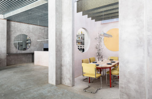 Seville eatery Casaplata gives concrete a pastel twist