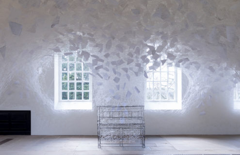 Artist Chiharu Shiota spins a ghostly yarn inside a Yorkshire chapel