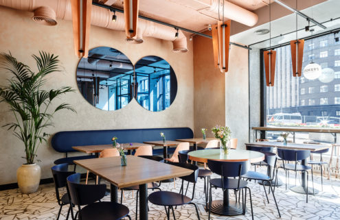Cooker's Gourmet Cafe channels a Wes Anderson vibe in Moscow
