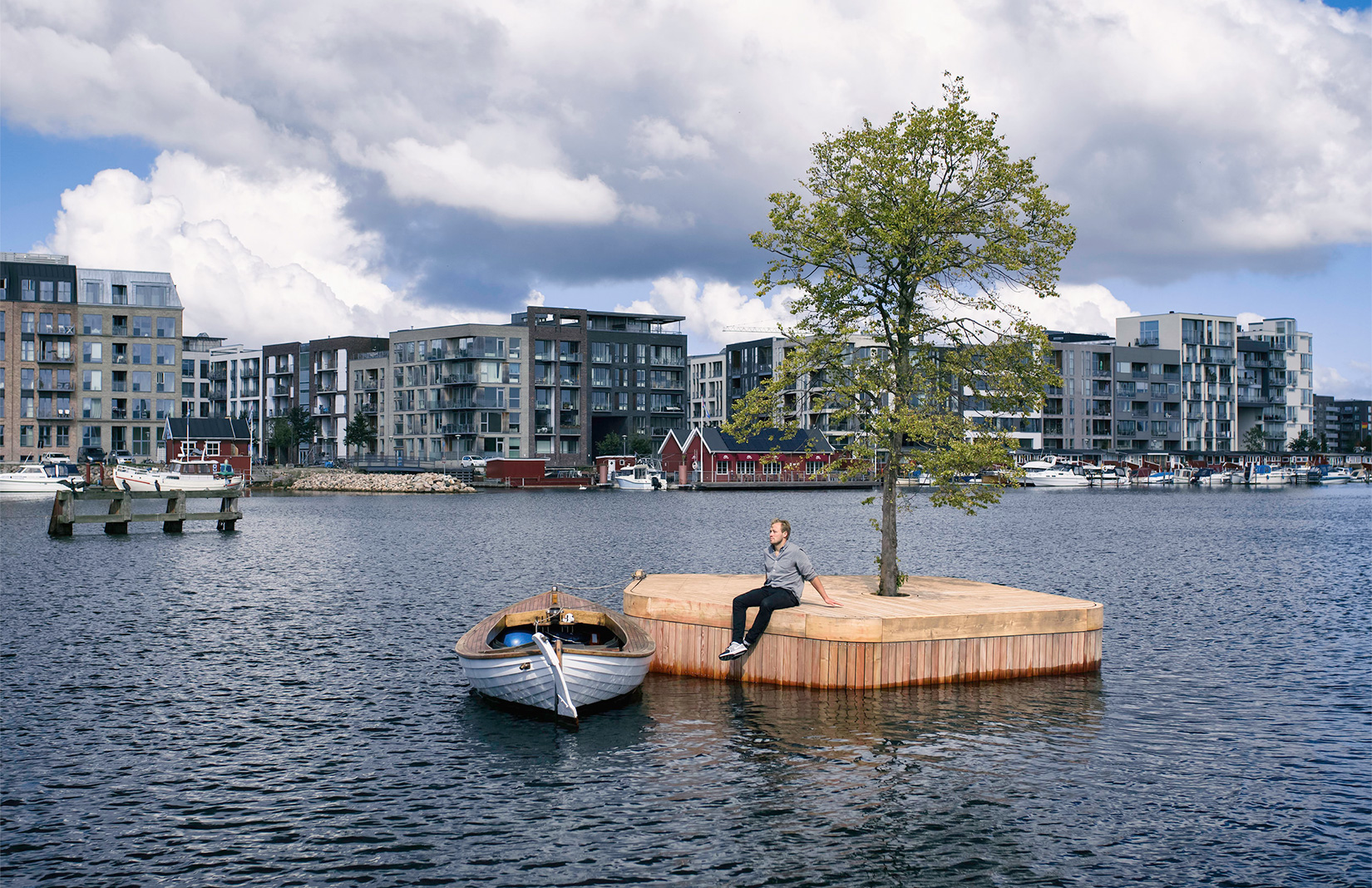 A Handmade Island Is Floating In Copenhagen S Harbour