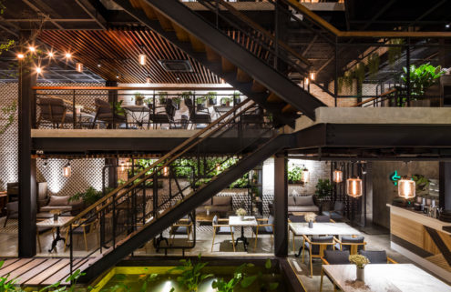 Le House designs a 'secret garden' café in Hanoi