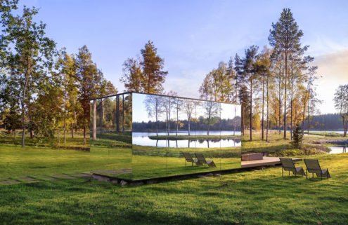 3 cabins that disappear into the landscape