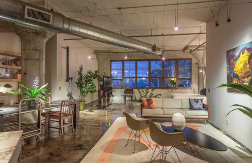 A designer's live/work loft in LA lists for $1.1m