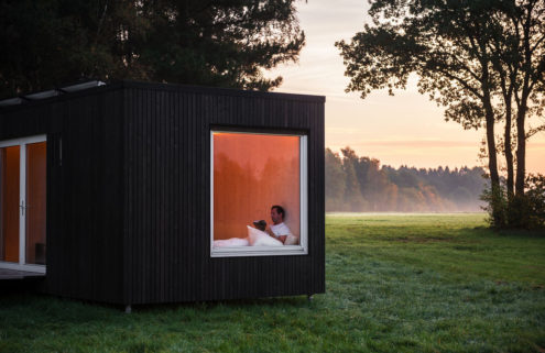 Secret cabins pop up across Belgium