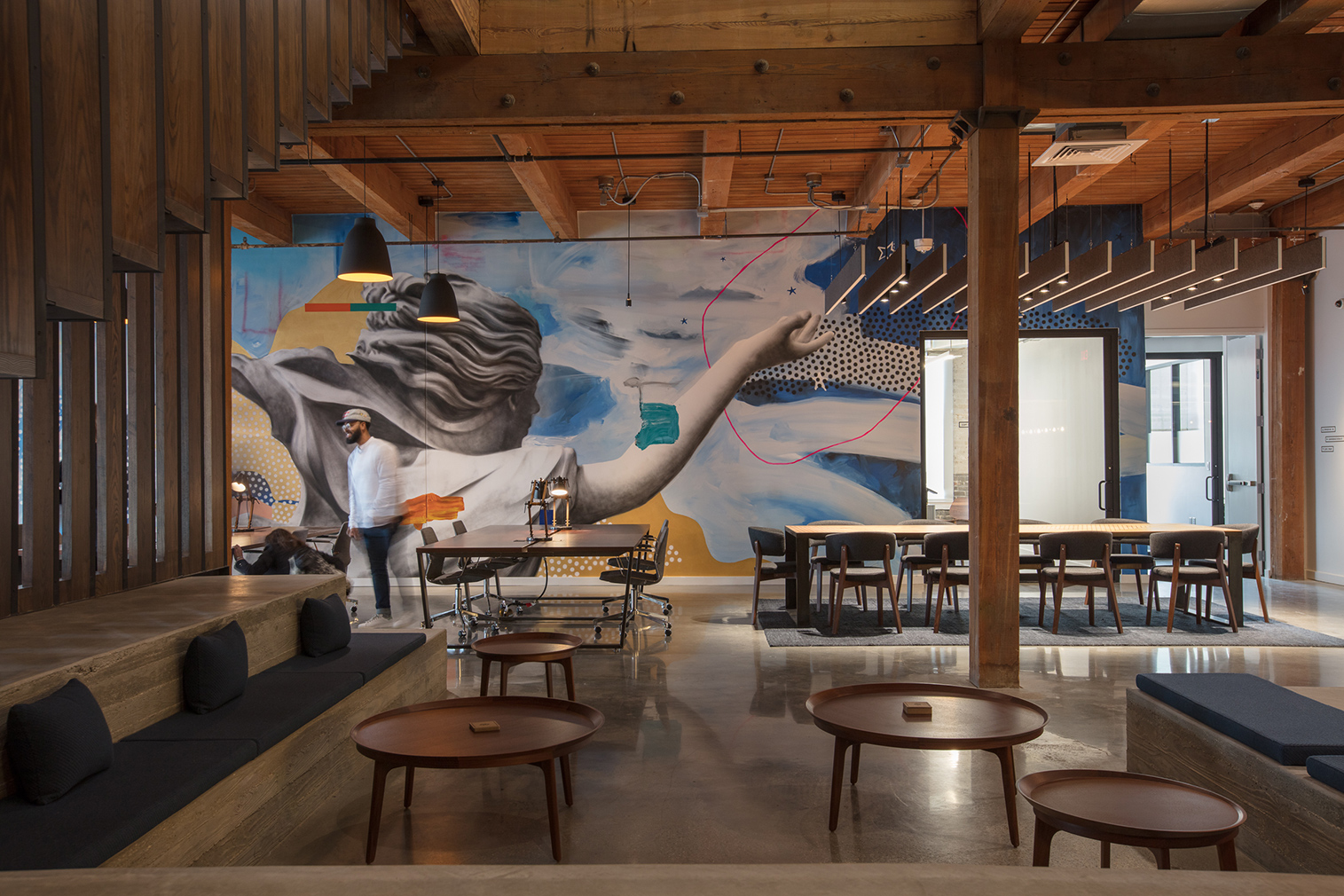 The Shop coworking space in New Orlean's CAC gallery