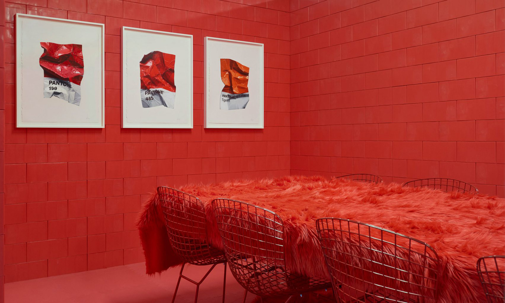 Artist Cj Hendry brings Pantone colours to life in this