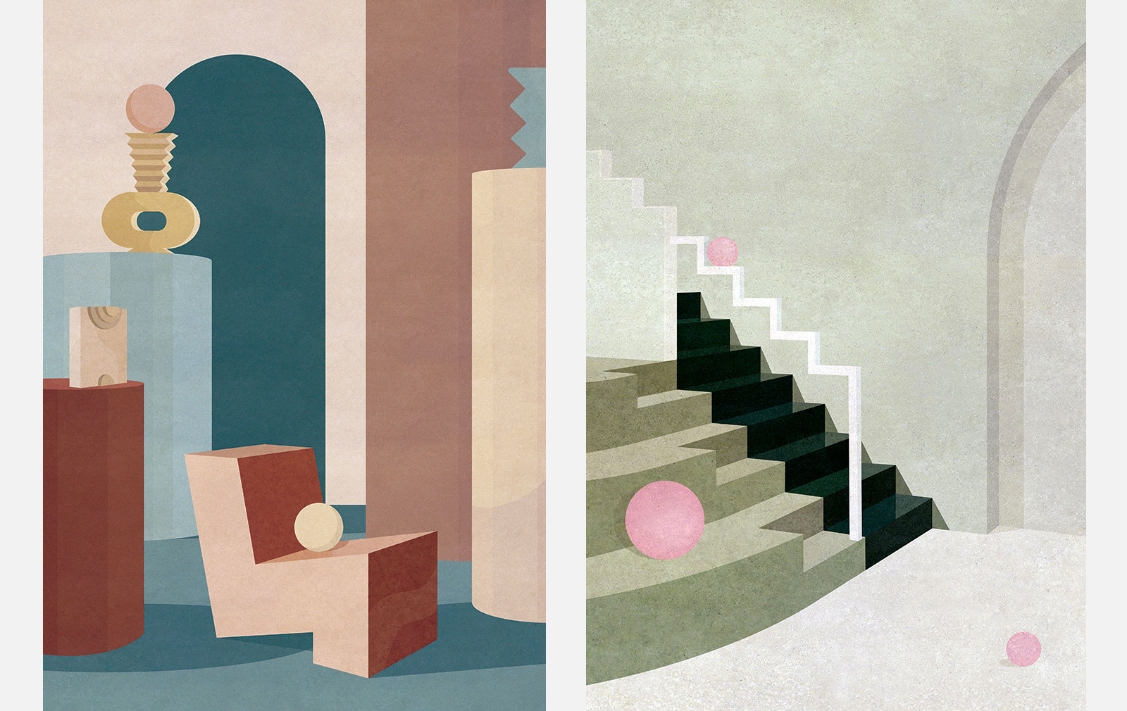 Charlotte Taylor's architectural illustrations