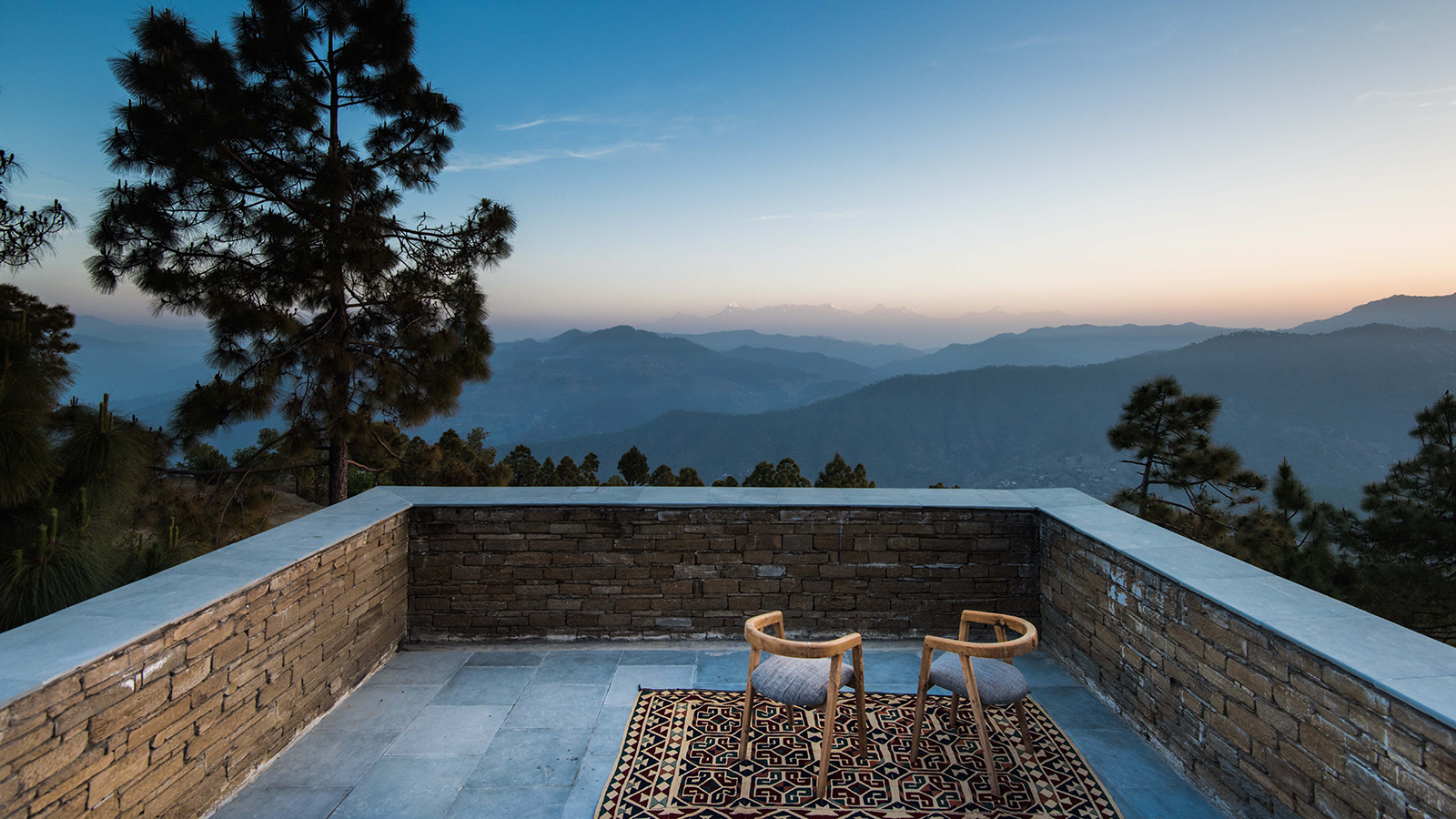 The Kumaon hotel in the Himalayas