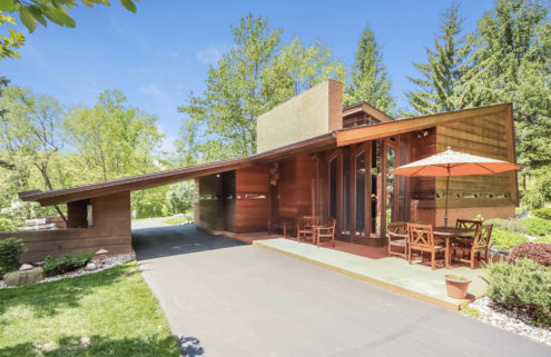 Little known Frank Lloyd Wright home in Michigan lists for $1.2m