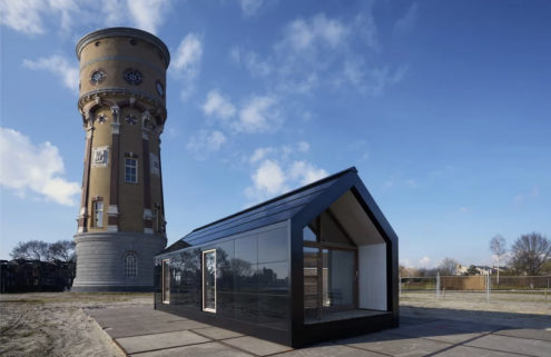 Adaptable Dutch prefab can be built on land or water