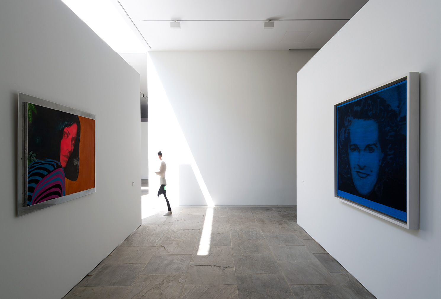 Left to right: Martial Raysse, 'Untitled', 1962. © Adagp, Paris 2018; Gerhard Richter, 'Evelyn (Blau)', 1964. © Gerhard Richter 2018. Photography: Marc Domage