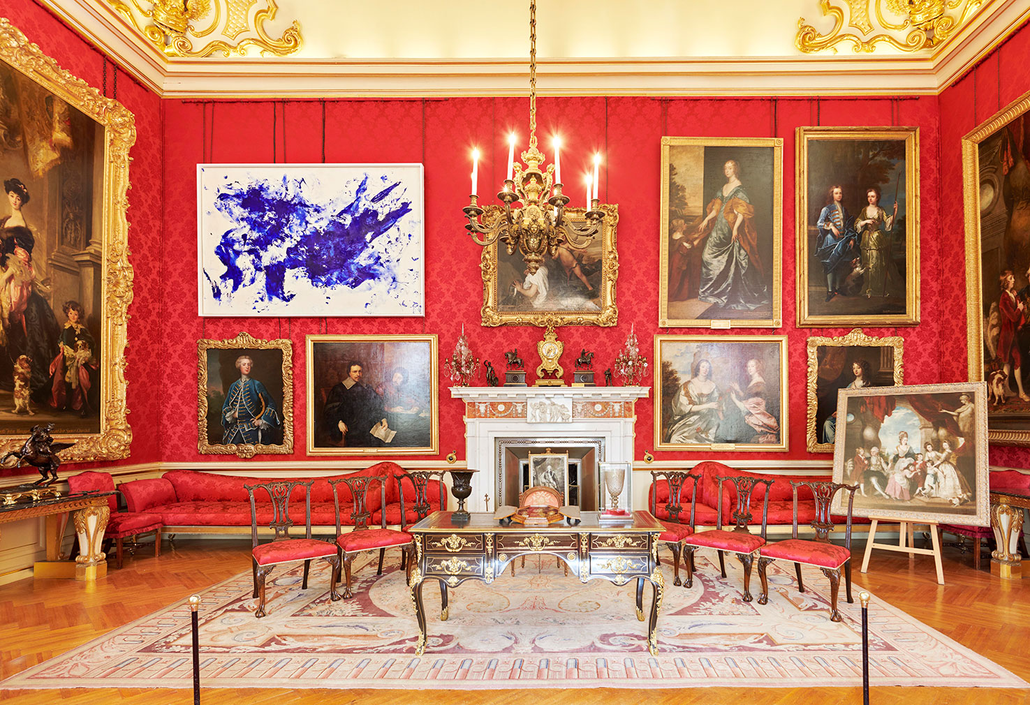 Yves Klein installation at Blenheim Palace