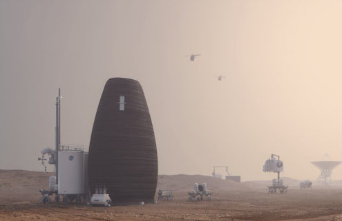 NASA backs designs for 3D-printed homes on Mars