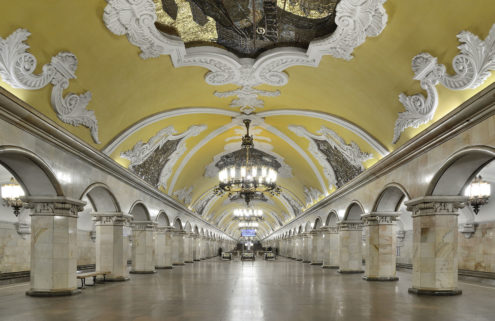 Tour the subterranean palaces of the Moscow Metro