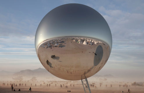 BIG wants to build a 30-tonne orb at Burning Man