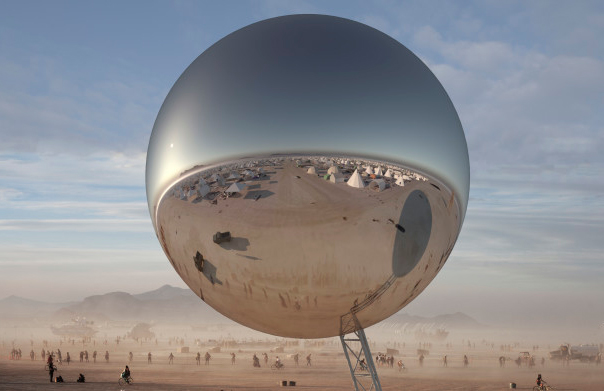 BIG wants to build an inflatable 30-tonne orb at Burning Man