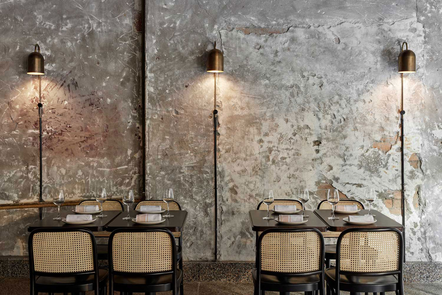 Pentolina restaurant in Melbourne designed by Biasol
