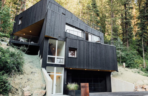 Blackened Treehaus home hits the market in Utah for $1.1m