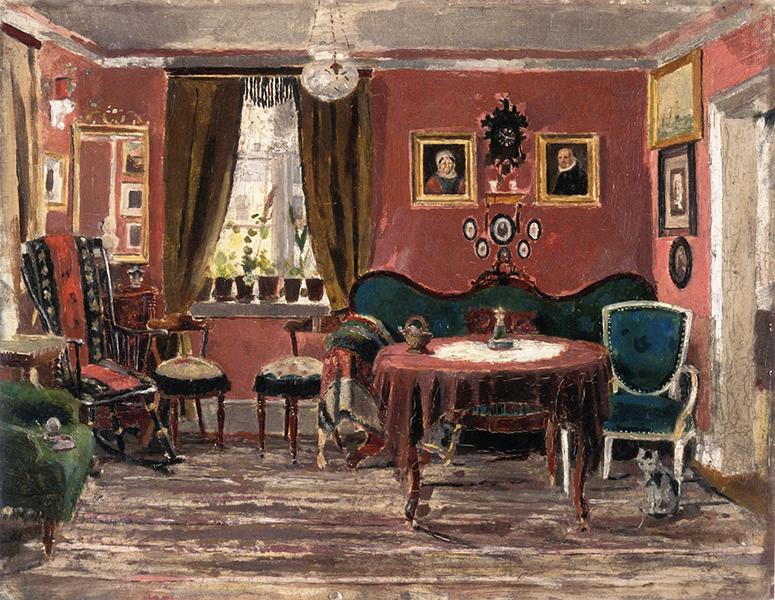 Edvard Munch, 'The Living Room of The Misses Munch in Pilestredet 61'