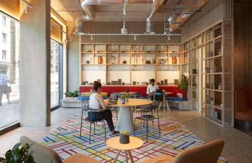 Inside Fora's colourful new London 'proworking' space
