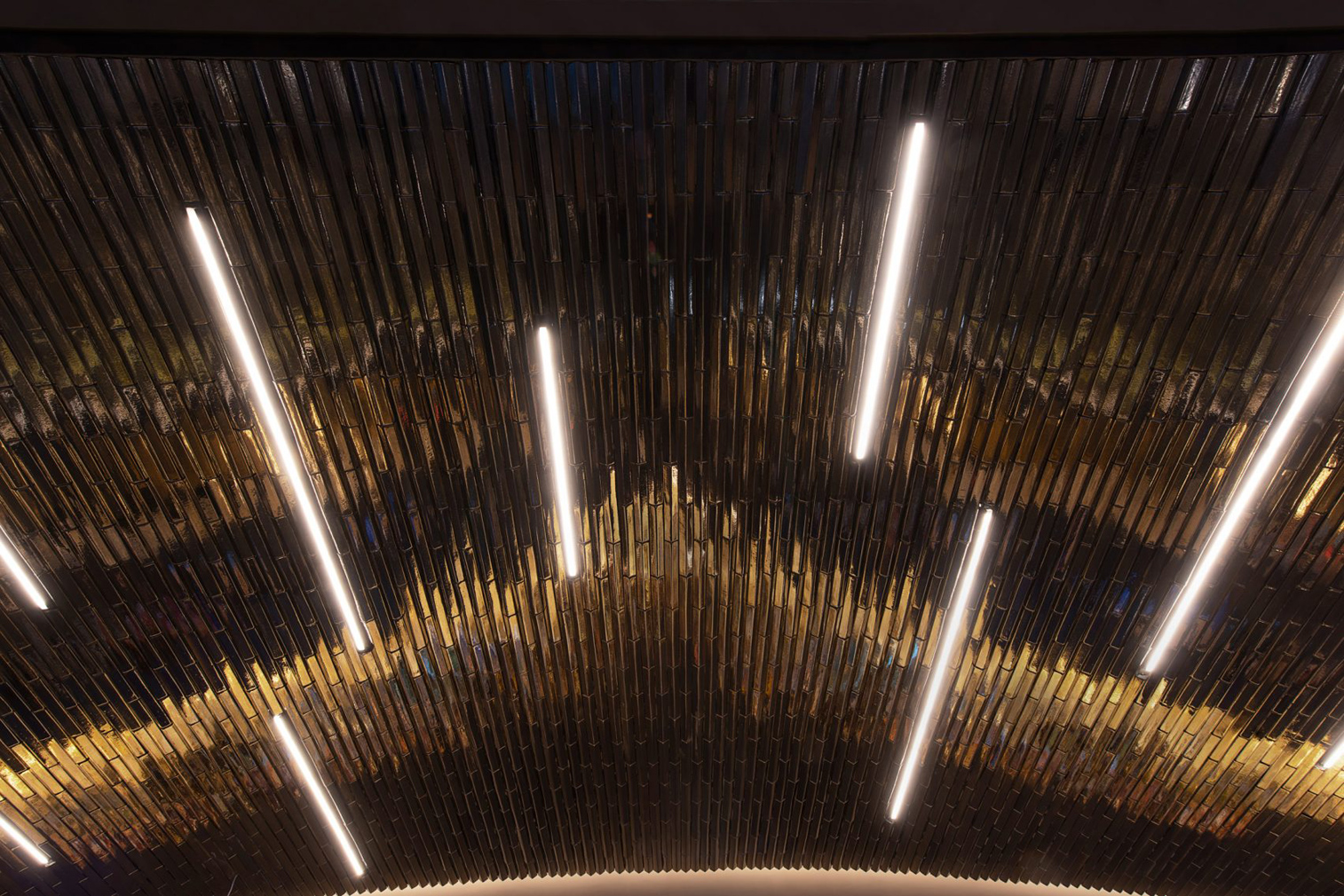 Studio Esrawe designs a glistening bar in Mexico City's National Stadium