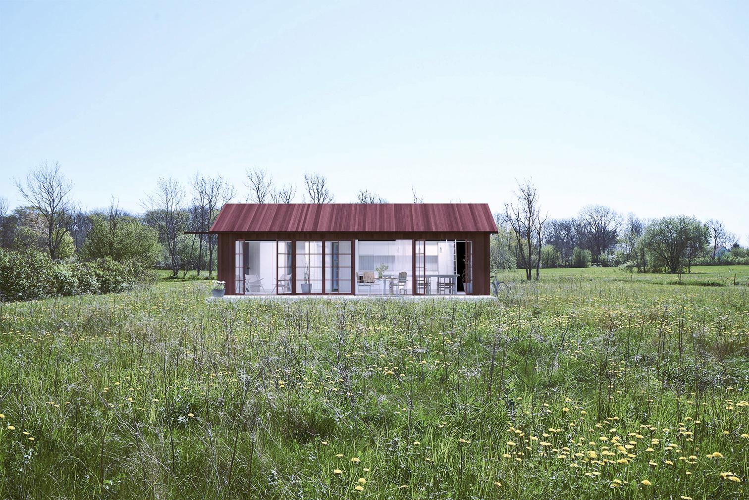 Unbuilt summer cabins on Sweden's Gotland