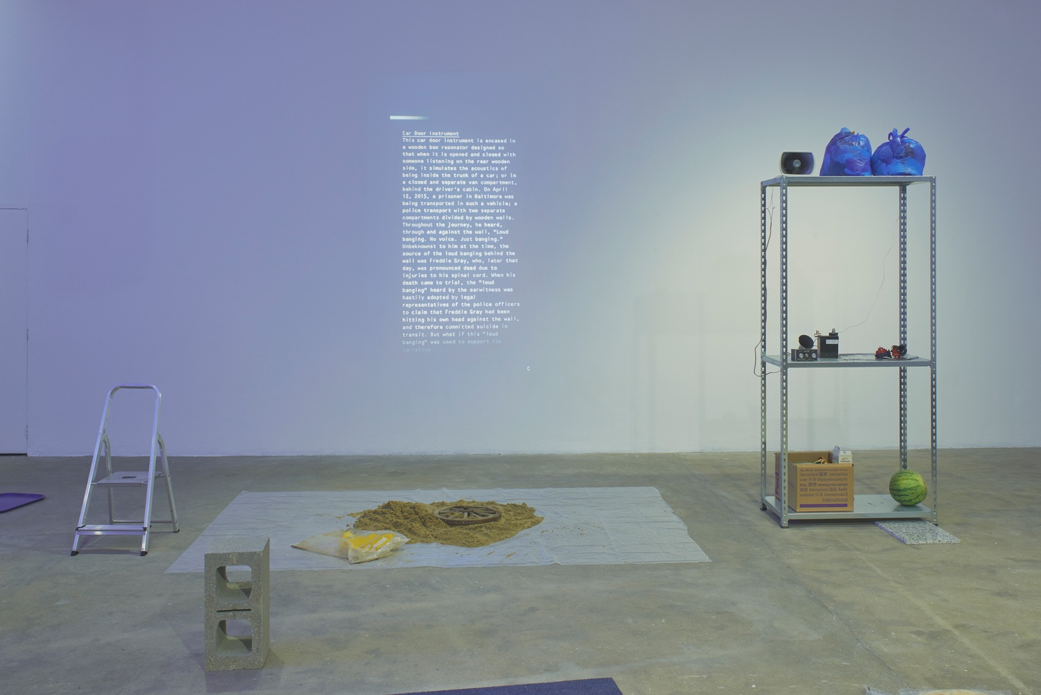 Lawrence Abu Hamdan, Earwitness Inventory (2018). Commissioned and produced by Chisenhale Gallery, London in partnership with: Witte de With Center for Contemporary Art, Rotterdam; Contemporary Art Museum St. Louis; and Institute of Modern Art, Brisbane. Courtesy of the artist. Photo: Andy Keate.