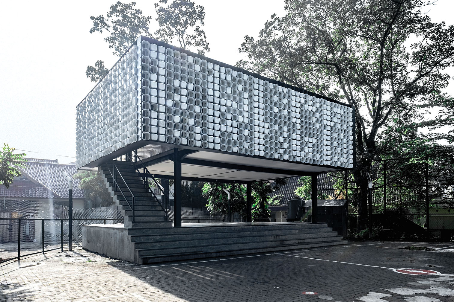 Microlibrary at Taman Bima, Indonesia, by SHAU Indonesia