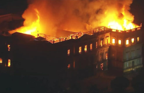 Fire destroys thousands of artefacts at Rio's National Museum of Brazil