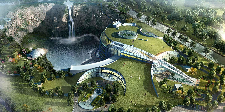 World's first underground hotel in a Shanghai quarry