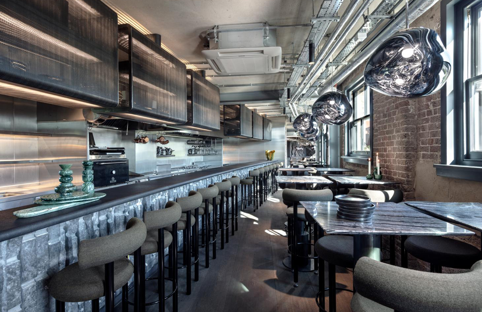 Wondrous Tom Dixons Testbed London Restaurant The Coal Office Opens Gmtry Best Dining Table And Chair Ideas Images Gmtryco