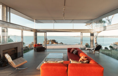 Holiday home of the week: a glass house that beds into the Tasmanian coastline