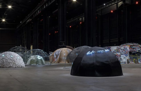 Igloos pop up inside Pirelli HangarBicocca for new Mario Merz retrospective