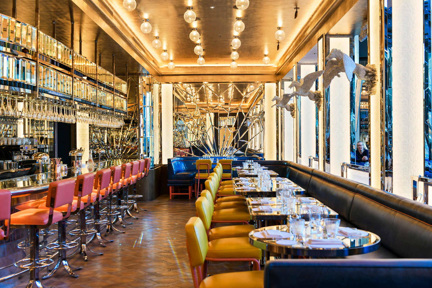 d85ab94832853 Selfridges  Brasserie of Light features a 24-ft-tall flying horse by Damien