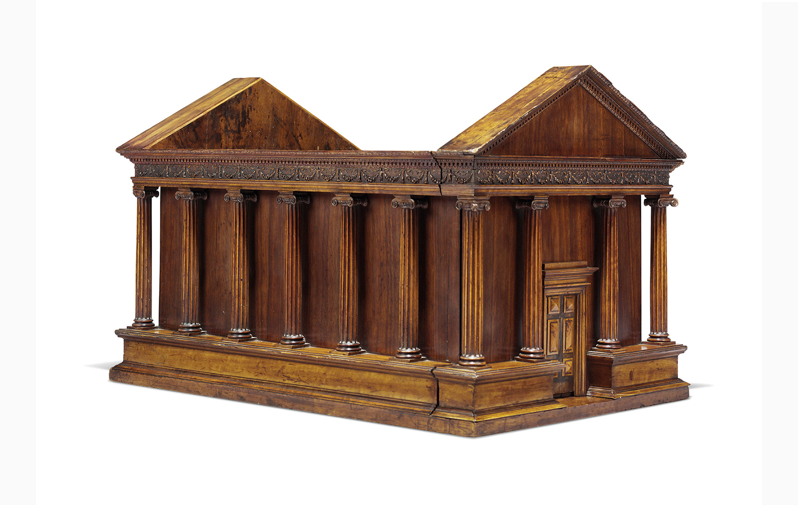 An Italian fruitwood architectural model of the Temple of Portunus, circa late 18th/early 19th century. Acquired from Axel Vervoordt NV, Gravenwezel, Belgium, 1998. (Estimate: £50,000 - £80,000).