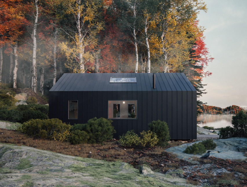 Flat-pack Great Lakes cabin is designed to weather the coldest of winters