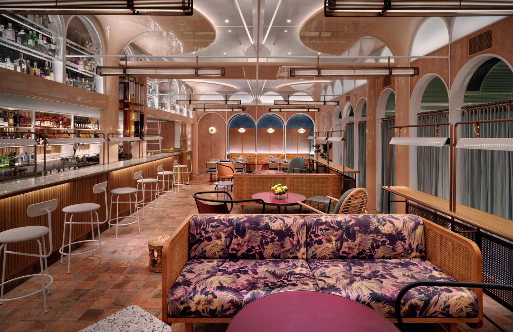 Interiors of Hong Kong dim sum canteen John Anthony