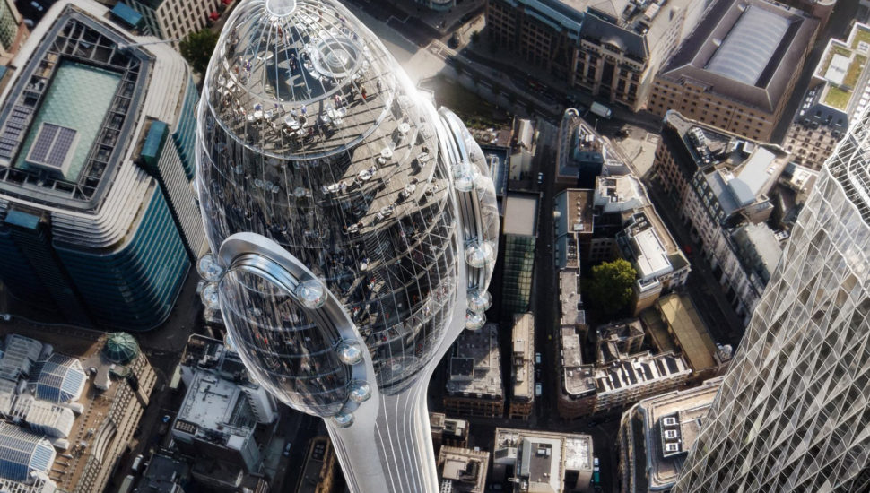 Foster + Partners reveals The Tulip, a sky-high observation tower in London